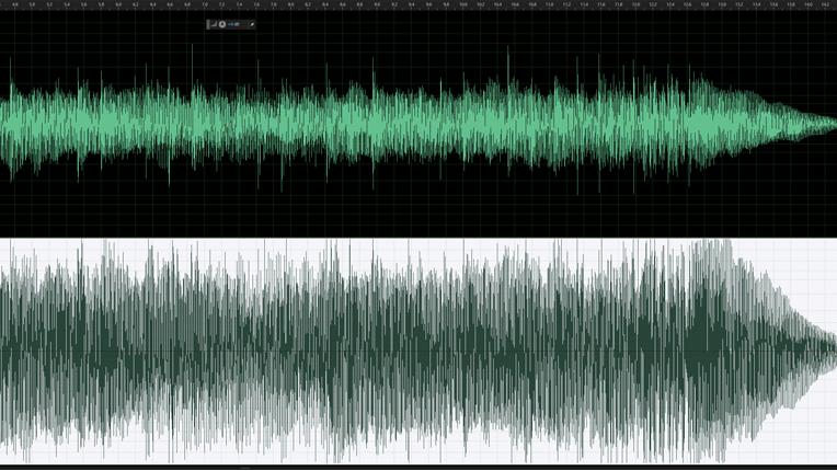 Sound wave comparison - loudness wars.