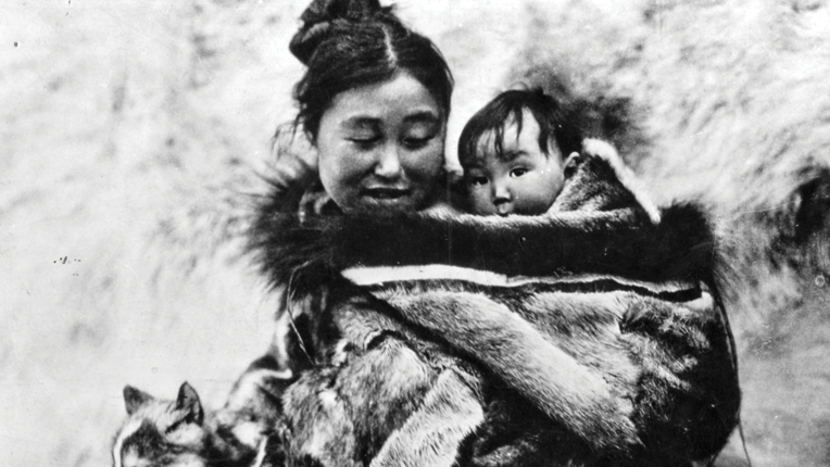 Mother and child scene from Nanook of the North
