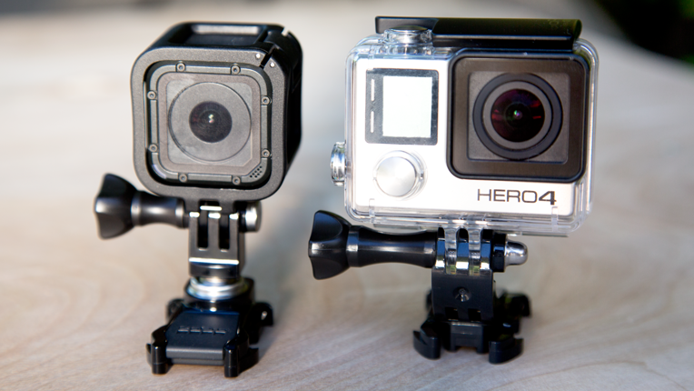 The HERO4 Session form factor diverges from previous GoPro models.