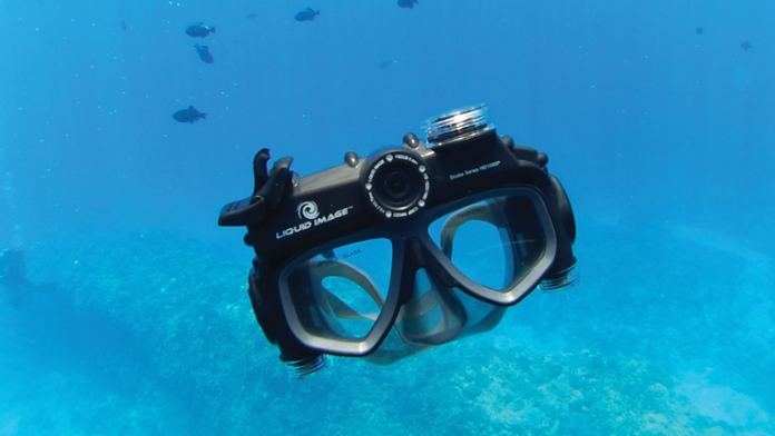 Liquid Image Hydra Series action camera floating in water