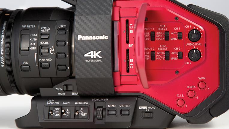 Side view of Panasonic AG-DVX200