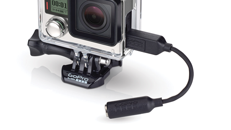 GoPro's optional mic adapter