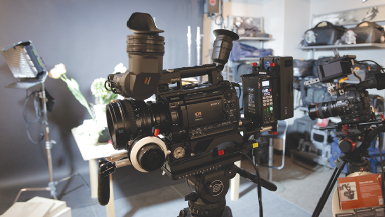 A video gear rental shop