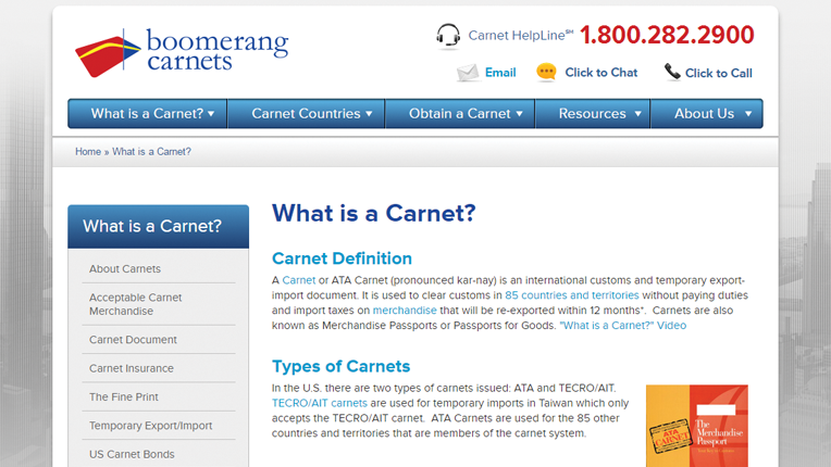 boomerang carnets website