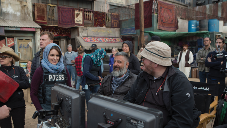 Left to right: Tina Fey, Director Glenn Ficarra and Director John Requa on the set   of Whiskey Tango Foxtrot from Paramount Pictures and Broadway Video/Little   Stranger Productions in theatres March 4, 2016.  Photo credit: Frank Masi  © 2015 PARAMOUNT PICTURES. ALL RIGHTS RESERVED.