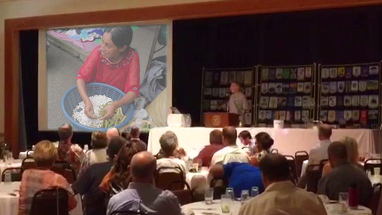 Video presentation at banquet.