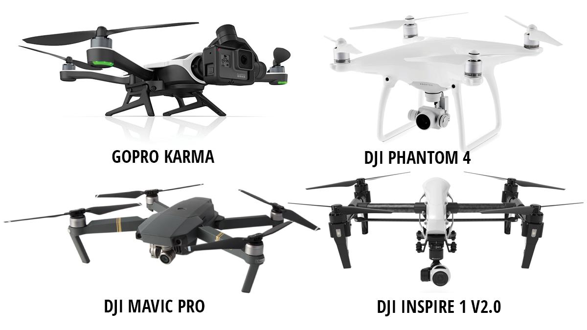 GoPro Karma -DJI Phantom 4 - DJI Mavic Pro - DJI Inspire 1 V2.0