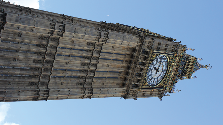 London's famous Big Ben clock tower