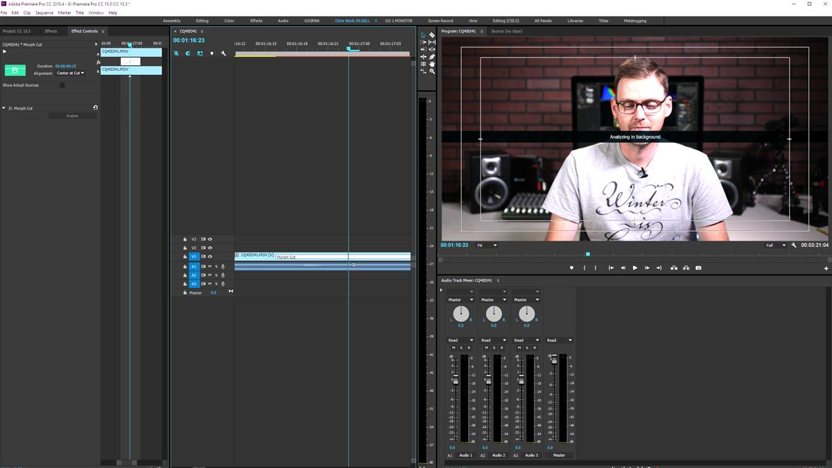 Premiere Pro CC 15.3 - Morph Cut