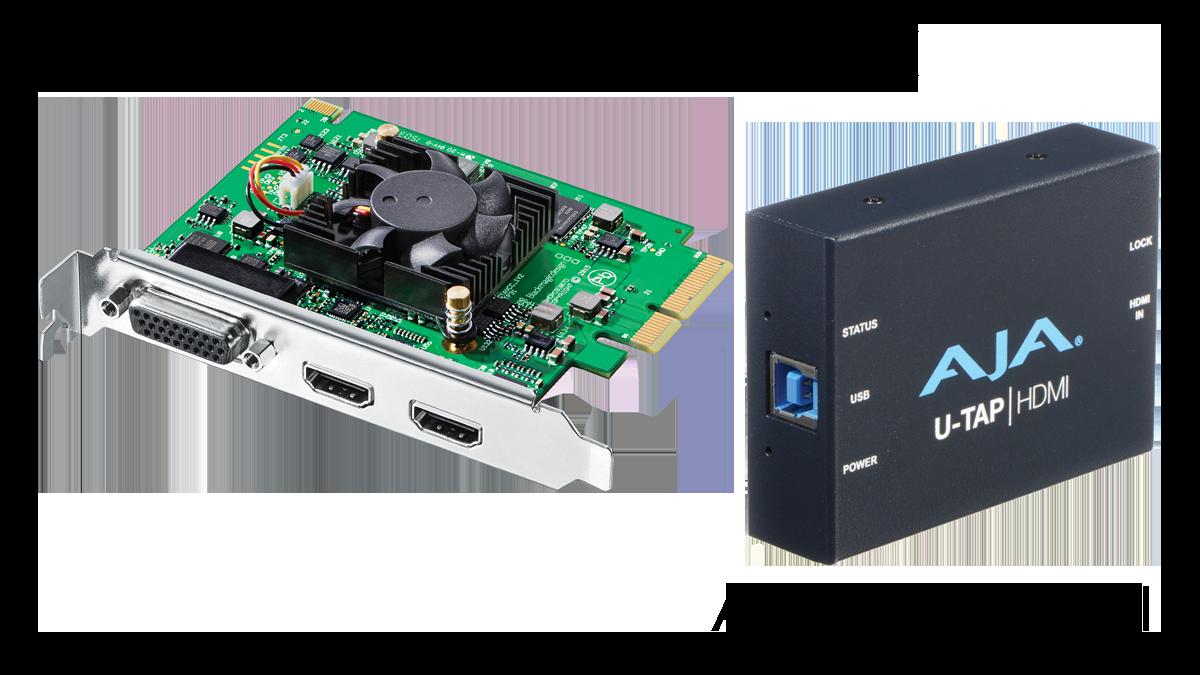 Blackmagic Design Intensity Pro 4K, AJA U-TAP HDMI