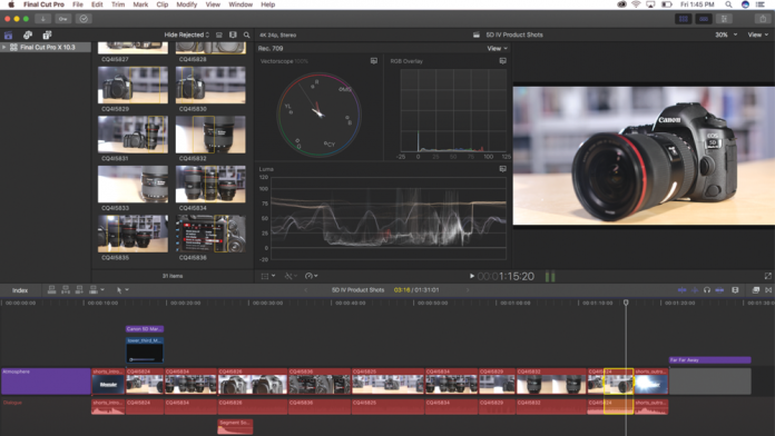 Apple  Final Cut Pro X 10.3 Review