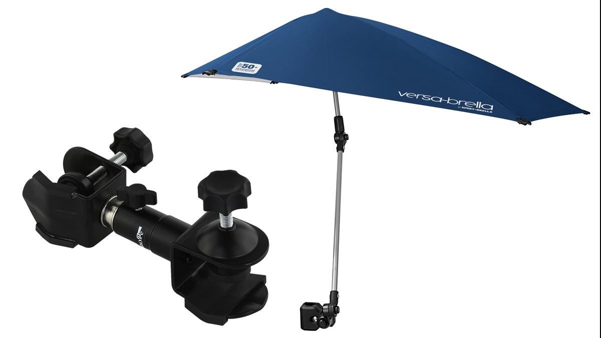 Lightweight umbrella, Versa-Brella and metal umbrella holder by Haoge