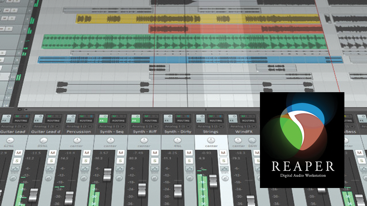 A popular audio editing and mixing application Reaper