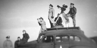 Five Came Back — John Ford in the field, shooting WWII propaganda for the U.S. military. Netflix