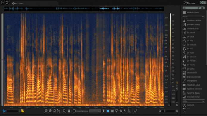iZotope RX 6 Advanced - editor view