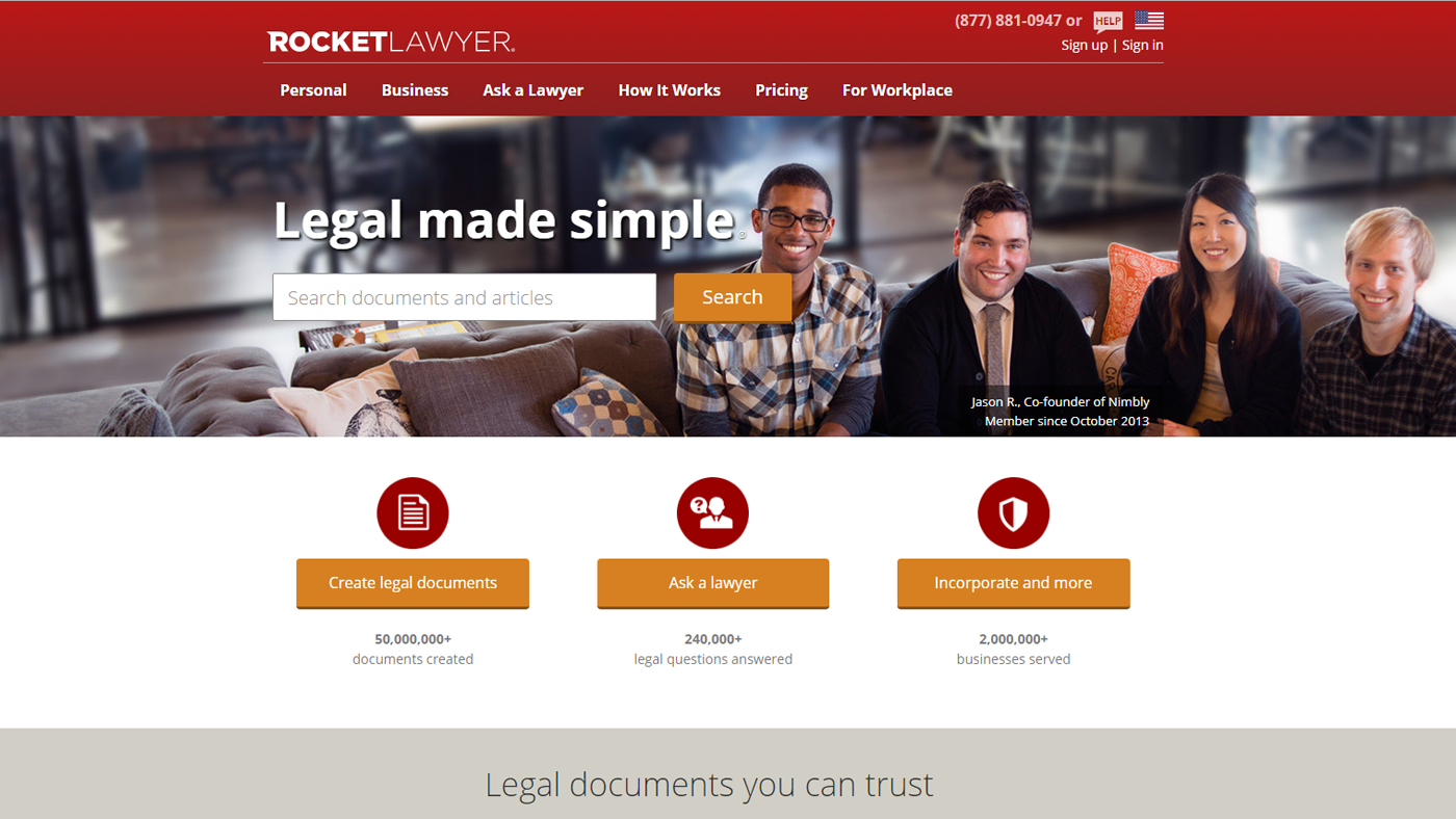 Websites like Rocket Lawyer are a good place to find template contracts.