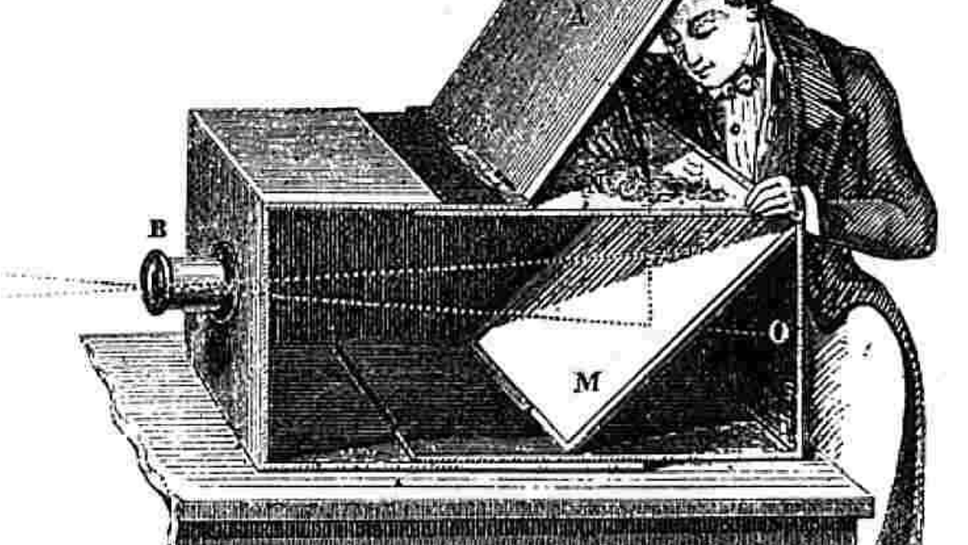 The phenomenon of the camera obscura is the result of physics: the photometrics of a lens, focal length and projection.