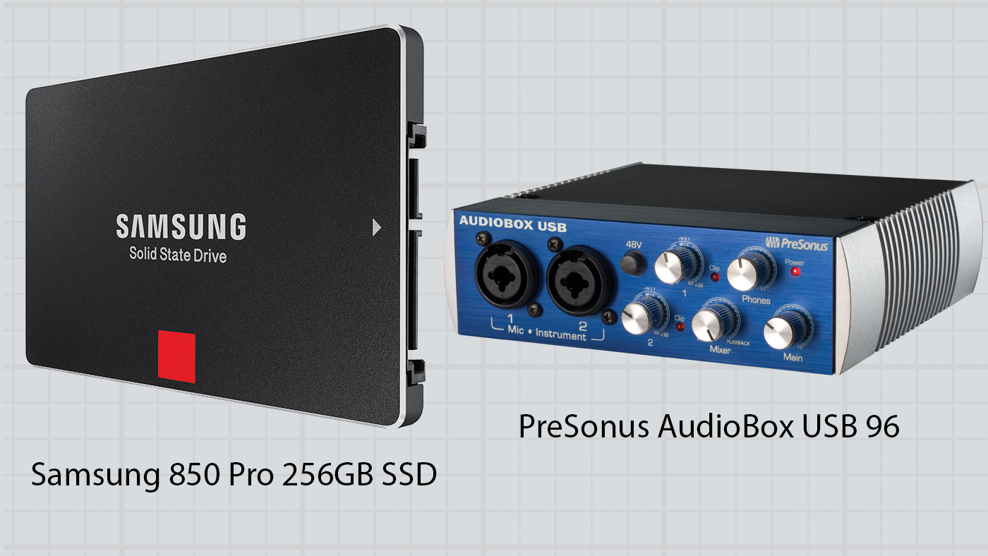 Samsung 850 Pro 256GB SSD and PreSonus AudioBox USB 96