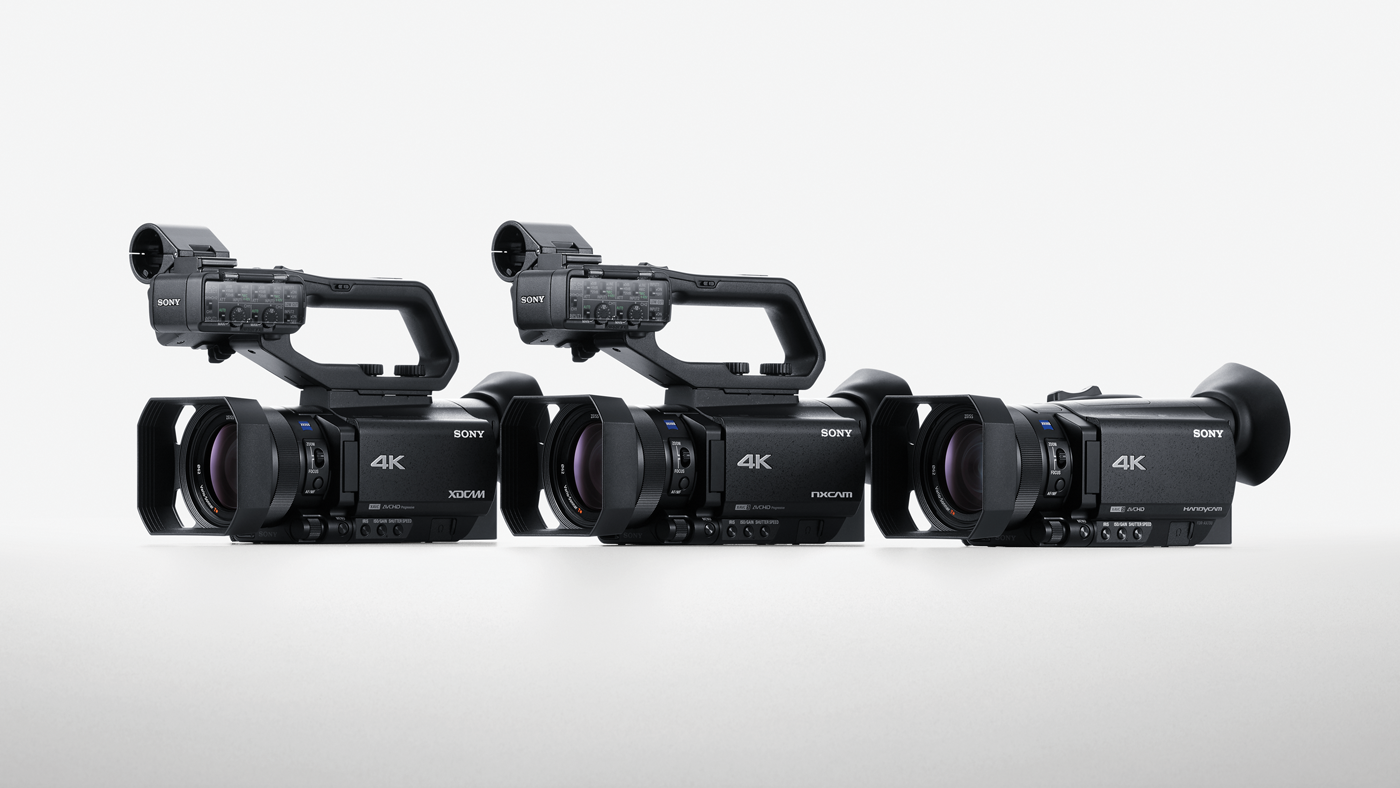 The XDCAM PXW-Z90, NXCAM HXR-NX80 and Handycam FDR-AX700