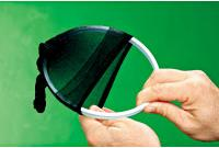 Slide one stocking over the inner ring of the hoop