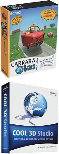 3D Animation Software Comparison:  Eovia Carrara 2 Basics vs. Ulead COOL 3D Studio