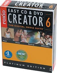 Roxio Easy CD & DVD Creator 6: DVD Authoring Software Review