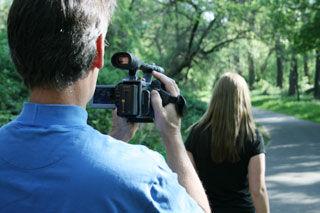 On set at Videomaker's workshop