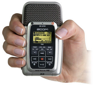 Samson Zoom H2 Handy Recorder gets small