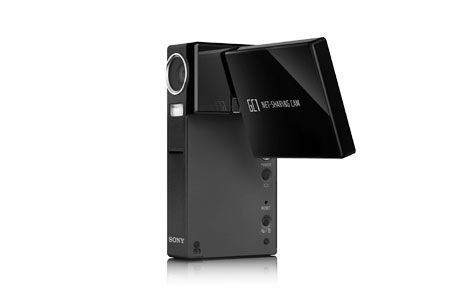 The new Sony NSC-GC1 Net-Sharing CAM is part camcorder, part web cam