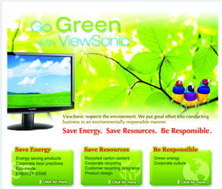 Greener Planet with ViewSonic