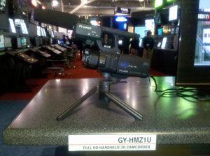 JVC displays new GY-HMZ1U 3D Camcorder at 2011 NAB Show