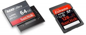 SanDisk Shows Off 128 GB SD Card and 64 GB iNAND