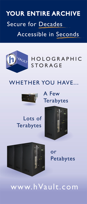 NAB 2012: Holographic Storage from hVault