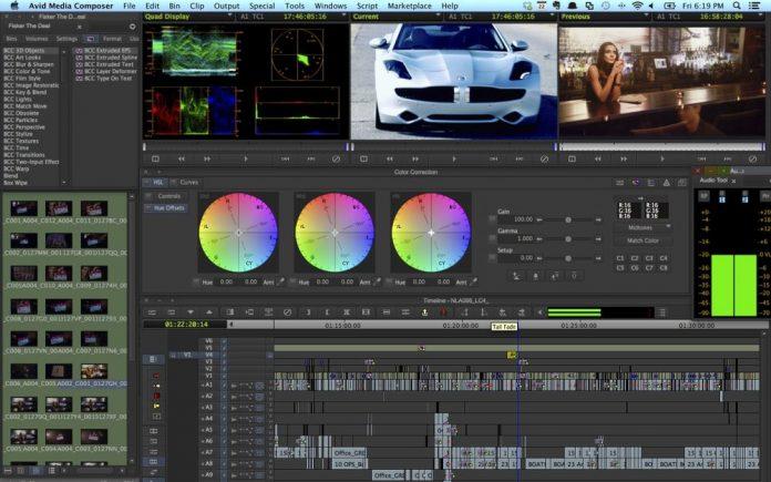 Avid Media Composer 7 Full Interface