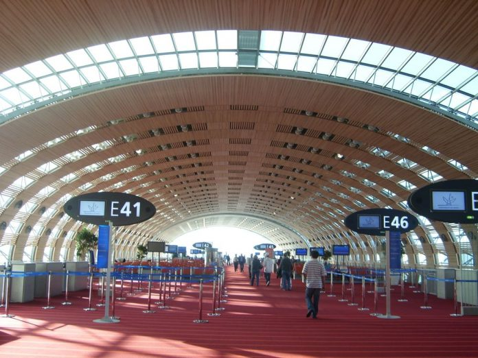 Large international airport teminal
