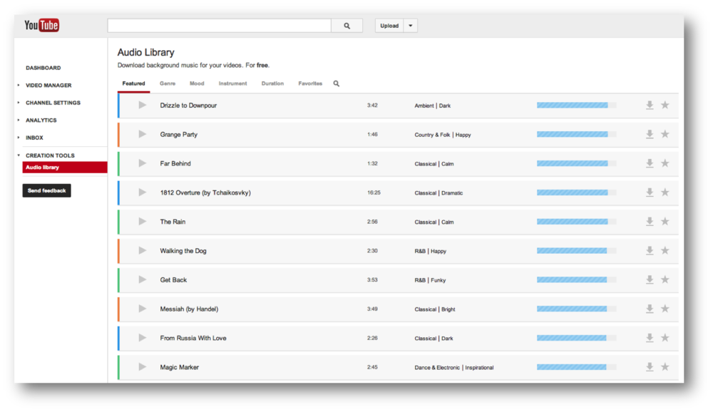 Royalty Free Music Library on YouTube: No Strings Attached