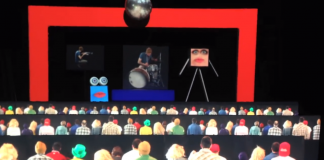 Screen shot of the amazing 3D music video by Pomplamoose