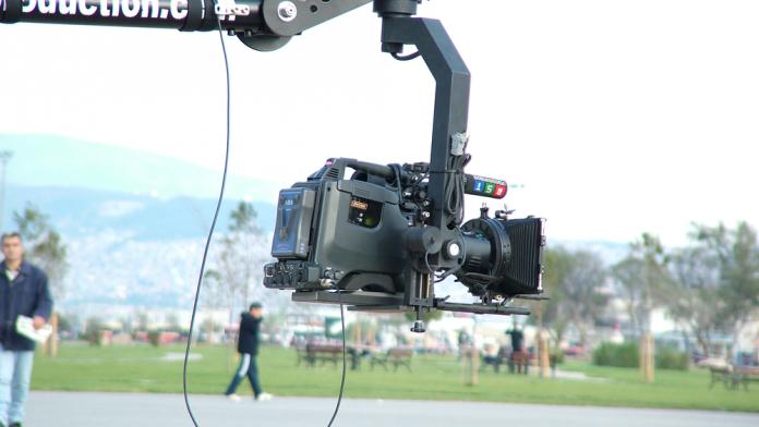 On a Betacam shoot!