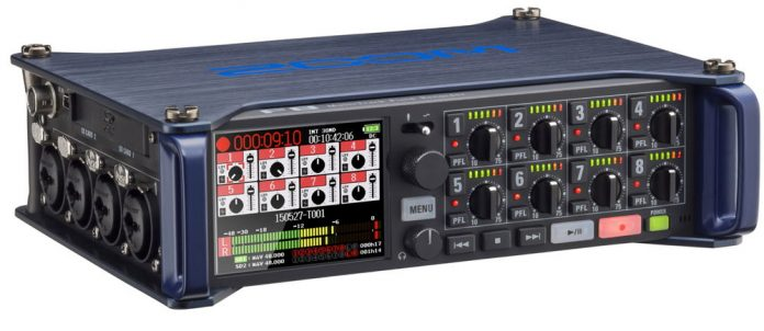 In the field recording becomes professional with ZOOM's F8 MultiTrack Field Recorder