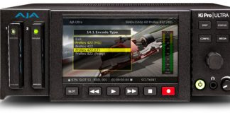 AJA'S Ki Pro Ultra Recorder and Player records 4K @ 60 fps