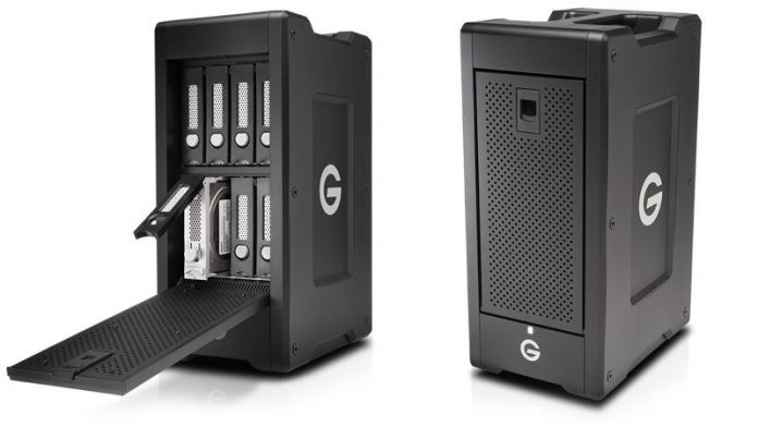 hard drive enclosure open and closed