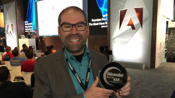 Adobe Accepts Best of NAB 2016 Award