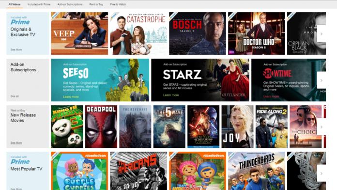 Amazon Video streaming