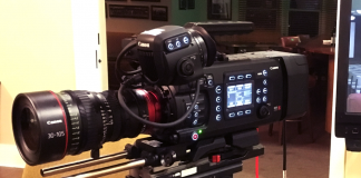 Canon EOS C700 on display