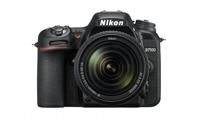 Nikon D7500 front view