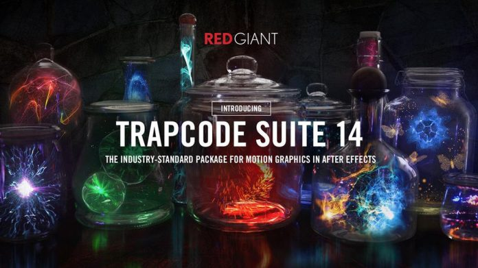 VXF examples behind text that reads Trapcode Suite 14