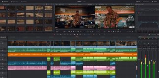 Image of Blackmagic Design's DaVinci Resolve 14's editing timeline