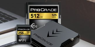 Image of ProGrade Digital's memory cards and card reader