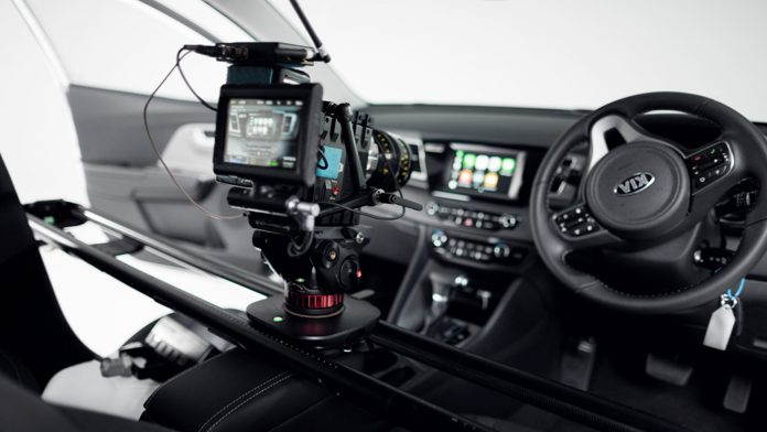 Magic Carpet Pro filming inside of a car