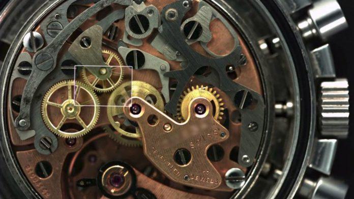 Gears of a watch